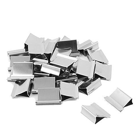 DealMux Metall Bürodruckpapier wiederverwendbare Fastener Clam Clip Refill 30pcs