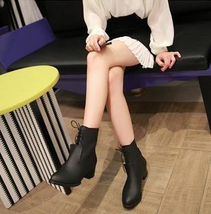 &ZHOU Bottes d'automne et d'hiver courtes bottes femmes adultes Martin bottes Chevalier bottes a4 Black