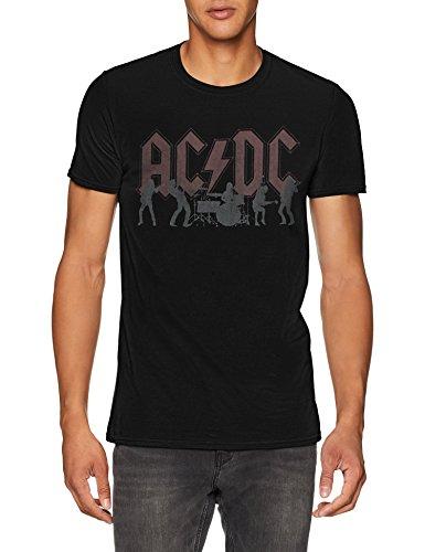 AC/DC Silhouettes Camiseta, Negro (Black Black), Medium para...