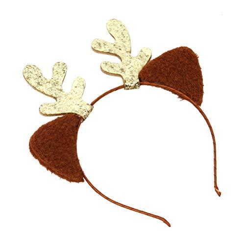 BESTOYARD Weihnachten Haarreif Rentier Stirnband Katzenohren Haarbänder Kinder Mädchen Hirsch Geweih Haarschmuck Kostüme Zubehör ()