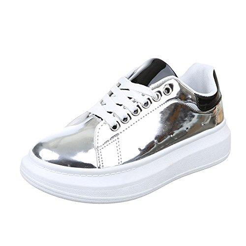 Ital-Design , chaussons d'intérieur femme Argent