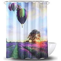 Cortina de la ducha XINGUANG Poliéster Impermeable Impresión Digital Globo de Aire Caliente multifunción Cortina (Tamaño : 180cm*180cm)
