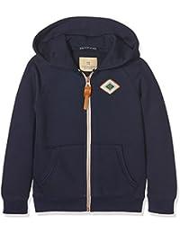 Scotch Shrunk Jungen Sweatshirt Poly Cotton Zip-Through Hooded Sweat with Artworks