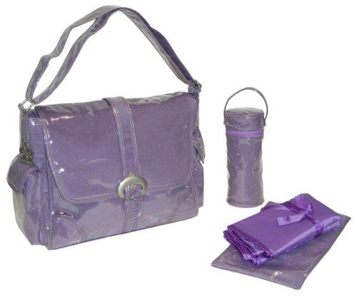 kalencom-fashion-diaper-bag-changing-bag-nappy-bag-mommy-bag-laminated-buckle-bag-purple-corduroy