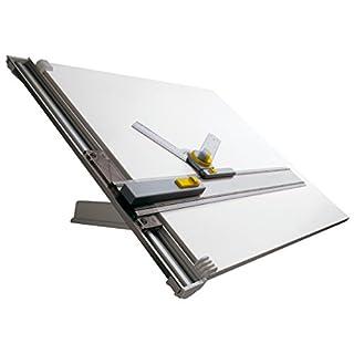 Aristo Zeichentisch (mit Parallel-Zeichenschiene, für Papierformat DIN A2, 600 x 700 mm) grau