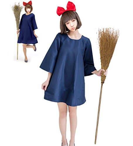Hexe Kostüm Kiki - Sympa, Halloween, Kiki's Lieferservice, Kiki Cosplay, Hexe, Kleid, Kostüm, Damen