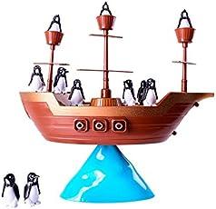 JEJA Pirate Boat Pinguin Balance Spiel für Kinder Kids Familie