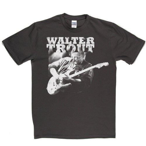 Walter Trout American Blues Guitarist Canned Heat T-shirt Grau