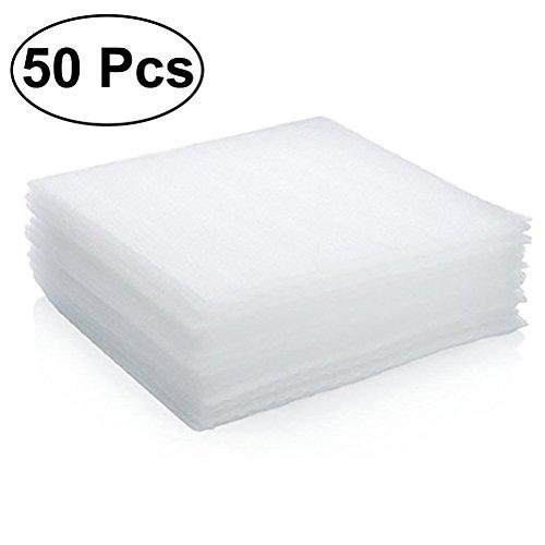 OUNONA 50pz EPE cuscino schiuma fogli piatti vasi occhiali piatti fragile items della fornitura di imballaggio: 30x 30x 0.5cm (bianco)