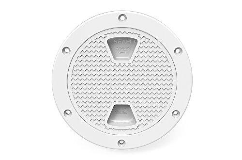 Seaflo 10,2cm Zugang Klappen, weiß rund für Marine Boot RV (Hatch Cover Runde)