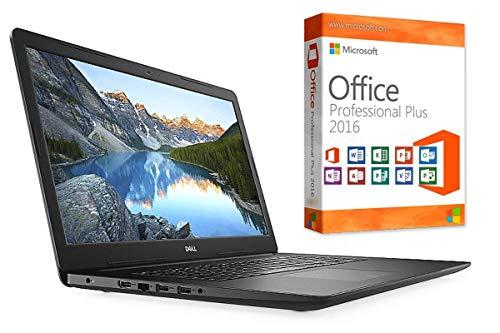 "Laptop INSPIRON 3782 - 8GB DDR4-RAM - 256GB SSD - Windows 10 PRO + MS Office 2016 PRO - 44cm (17.3"") MATT - CD/DVD Brenner"
