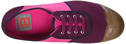 Bensimon Damen Old School Colored Sportschuhe, Niedrig Violett (Prune)