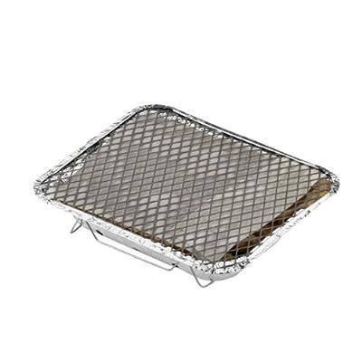 Reisegrill mit Holzkohle und Anzündhilfe Grillfläche: 22x26,5 cm
