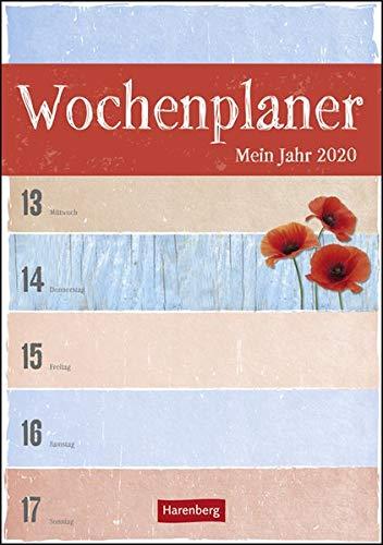 Wochenplaner Mein Jahr Kalender 2020