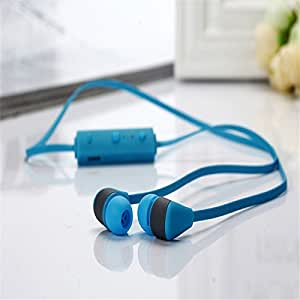 CHKOKKO BT-3 Sports Bluetooth Headphones Bluetooth 4.0 Portable Wireless Stereo Running Headset Earphone with Mic Handsfree for Android/Windows/iPhone/iPad - Blue