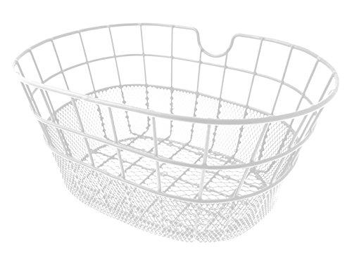 RMS Cestino metallo ovale doppia maglia bianco Oval metal basket double link white