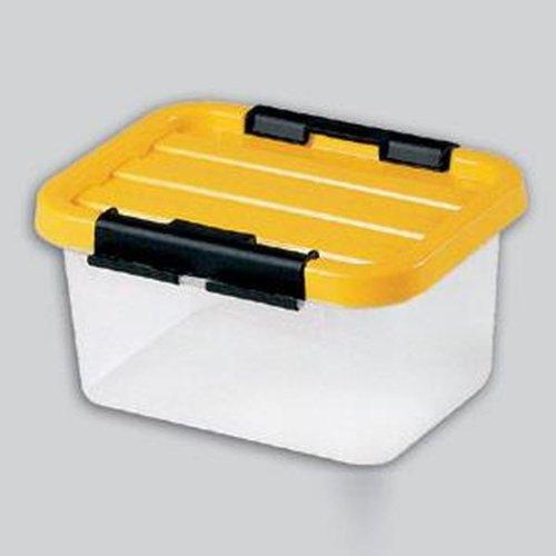 Clipbox 40x29x18cm mD.14l mit Deckel, farb.sortiert