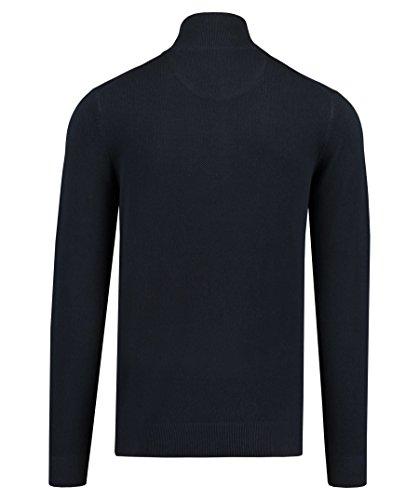 GANT Herren Pullover Piqué Halfzip Blau (Evening Blue)