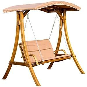 ass design hollywoodschaukel rio aus holz l rche mit dach von. Black Bedroom Furniture Sets. Home Design Ideas