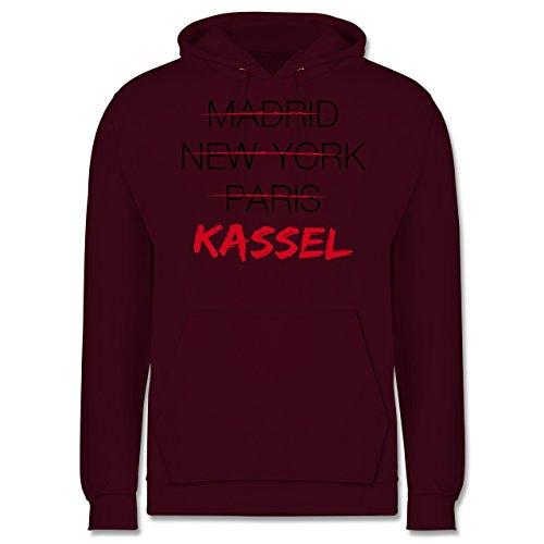 Städte - Weltstadt Kassel - Männer Premium Kapuzenpullover / Hoodie Burgundrot