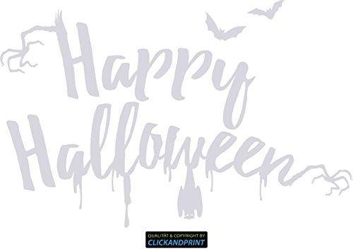 ber » Happy Halloween, 170x109,6cm, Transparent • Wandtattoo / Wandaufkleber / Wandsticker / Wanddeko / Vinyl ()