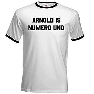 Arnold Is Numero Uno Mens T Shirt Schwarzenegger - Free UK Postage (X Large 44-46)