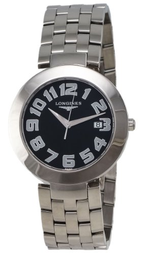 Longines Dolce Vita Stainless Steel Mens Watch Black Dial Calendar L5.675.4.53.6