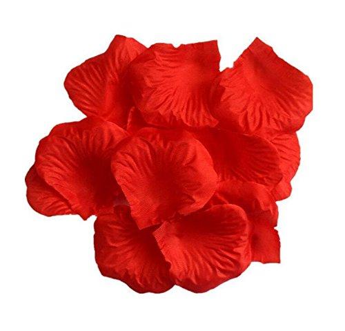 Doutop Rosenblüten Rote Rosenblätter 1000 Stück Künstliche Seiden Blumenblätter Seidenblumen Streudeko für Hochzeit Party Valentinstag Heiratsantrag Streublumen Tischdeko (Rosa Bett In Einem Beutel)