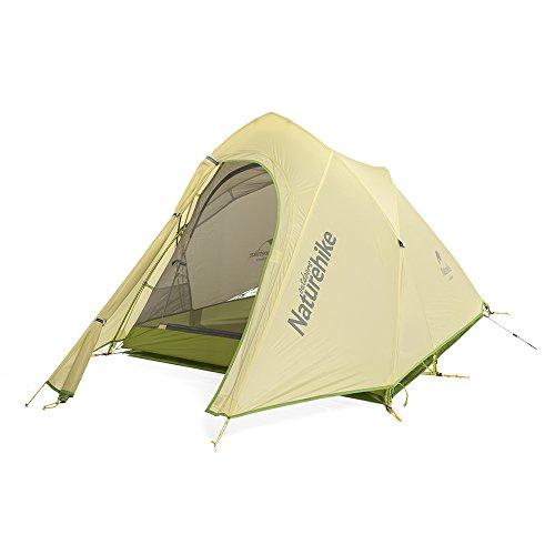 Naturehike Cirrus Ultralight 20D, tenda da campeggio in silicone per 2 persone, grey&green