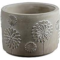 Molde redondo de silicona para hormigón, diseño de jarrón de cemento, herramienta de decoración