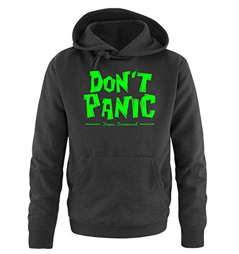 Comedy Shirts - DON'T PANIC - Dope Diamond - Uomo Hoodie cappuccio sweater - taglia S-XXL different colors nero / neon verde