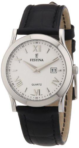 Festina F16521/4 - Reloj analógico de cuarzo para mujer con correa de piel, color negro