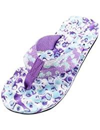 Sannysis Zapatillas de estar por casa para mujer, flor de verano (40, Púrpura)