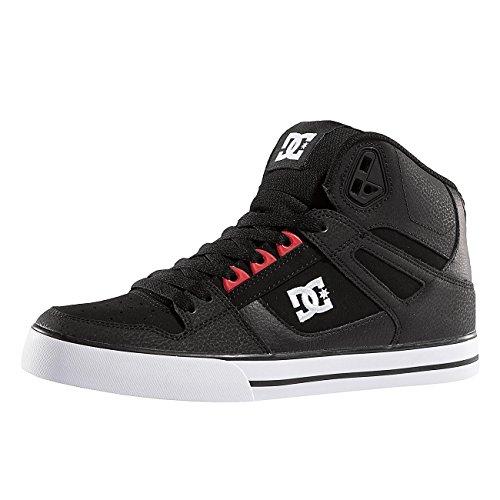 DC Spartan Hi WC Black Red Black 44.5 (Dc Skate High Schuhe)