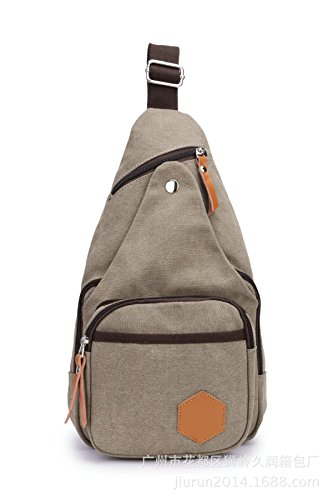 BULAGE Paket Leicht Kompakt Elegant Praktisch Lässig Brusttaschen Sport Leinwand Herren- Klein Robust Schmutz Einfach Grey
