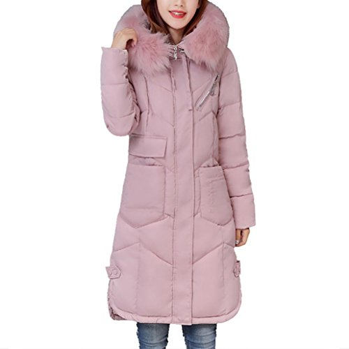 Winter Hooded Outwear Damen Btruely Warm Dicker Lange Mantel Mädchen Hinunter Lammy Jacke Damen Slim Parka Mode Overcoat (XXXL, - Mädchen Rosa Damen Jacke