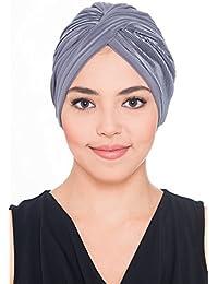 Chic Plisse Turban für Haarverlust - Kopftuch bei Krebs