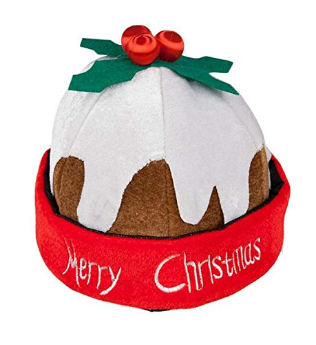 Labreeze Unisex Merry Christmas Pudding Hat Novelty Office Party Xmas Fancy Dress