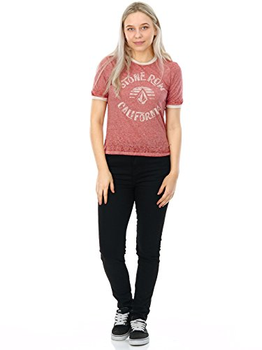 Volcom Awl Rights T-Shirt Femme Rouge