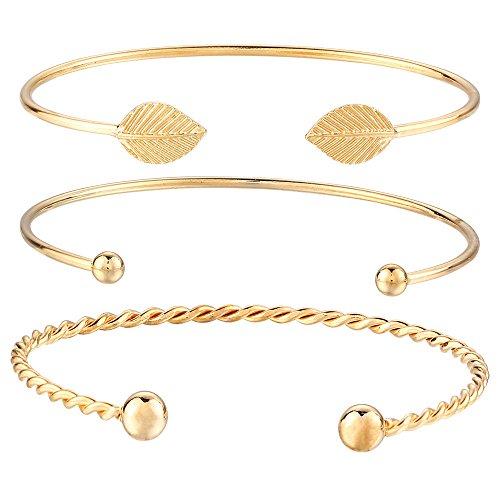 Mypace Silber Gold 925 Armreif Für Damen Herren Fashion Women Gold Punk Cuff Bracelet Bangle Chain Wristband Schmuckset (Ohrring Kette Und Set Mit Cuff)