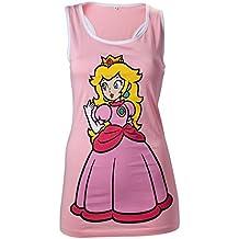 Nintendo - undershirt Princesa Peach - conformado para niña - Tomado de el juego clásico de Super Mario - Rosa