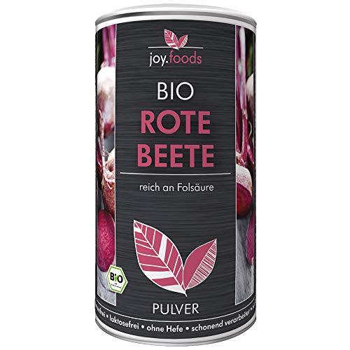 Pulver-konzentrat (joy.foods Bio Rote Bete Pulver, reich an Folsäure, Superfood aus Deutschland, laborgeprüfte Qualität, 250 g)