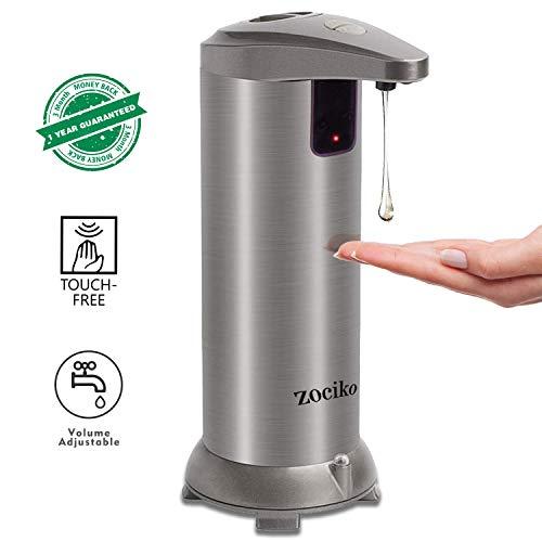 zociko Automatischer Seifenspender, Seifenspender Automatisch Edelstahl Touchless