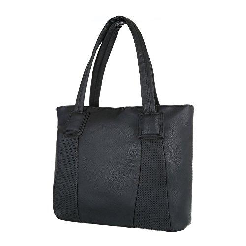 Taschen Handtasche Tragetasche Used Optik Schwarz