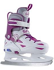 SFR Eclipse Adjustable Light Up Youth Ice Skates -Size Junior 8 - UK 6 - White