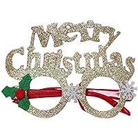 LILICAT☃ Decoration Navidad decoración Adultos niños Dibujos Animados Fiesta Gafas Marco atmósfera aspectos destacados (A, B, C, D, E, F, G, H, I)