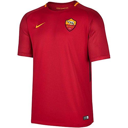 nike NK BRT Stad JSY SS HM Camiseta As Roma, Niños, Naranja / (Team Crimson / University Gold), XL