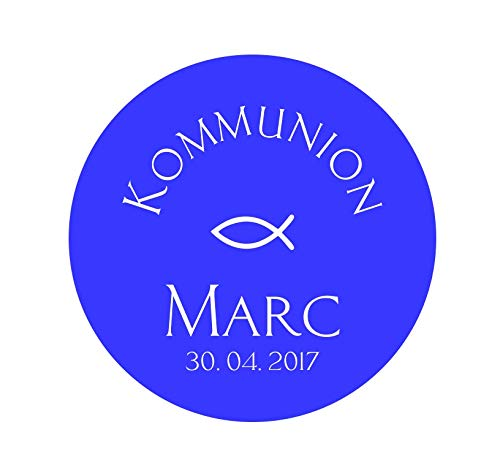 24 Aufkleber Etiketten Selbstklebend Kommunion Konfirmation Taufe