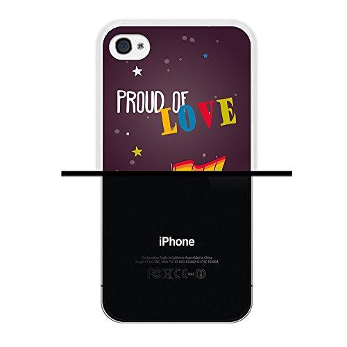 iPhone 4 iPhone 4S Hülle, WoowCase Handyhülle Silikon für [ iPhone 4 iPhone 4S ] Blaue portugiesische Filese Handytasche Handy Cover Case Schutzhülle Flexible TPU - Transparent Housse Gel iPhone 4 iPhone 4S Transparent D0312