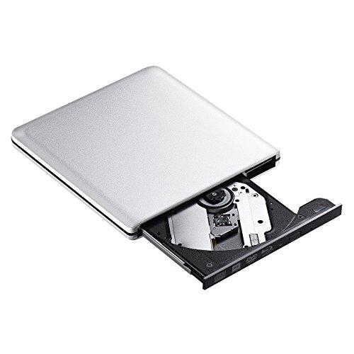 Blu-ray Laufwerke, TOPELEK USB 3.0 Externe Laufwerke Brenner Treiber, BD CD DVD Brenner und Player, für Windows, Mac OS Laptop, PC, Computer, Silbern